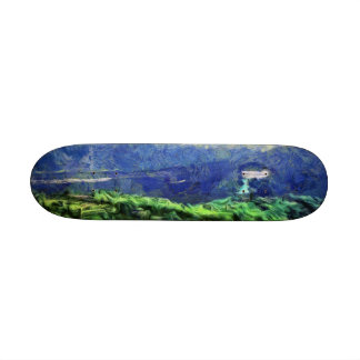 Flying saucers in the sky 21.6 cm skateboard deck