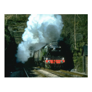 Flying Scotsman caught between tunnels at Barons W Postcard