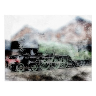 Flying Scotsman Vintage Steam Train Engine Card Postcard