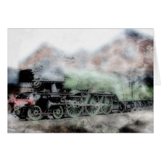 Flying Scotsman Vintage Steam Train Note Card
