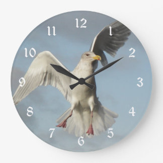 Flying Seagull Photo Large Clock