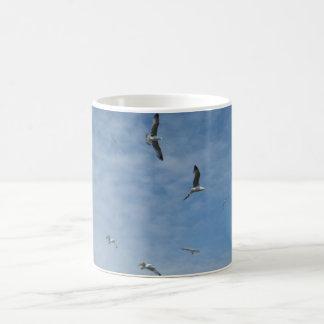 Flying Seagulls  White Coffee Mug