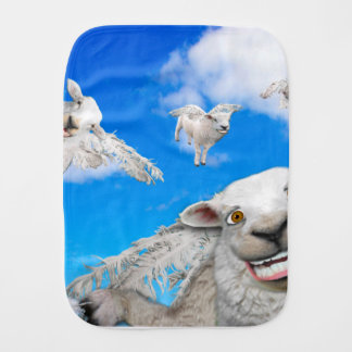 FLYING SHEEP 5 BURP CLOTH