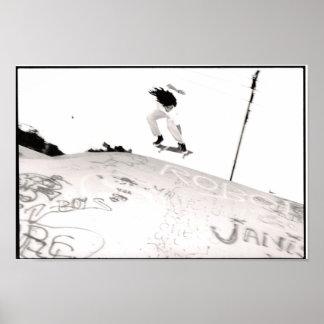 Flying Skater Boy Poster