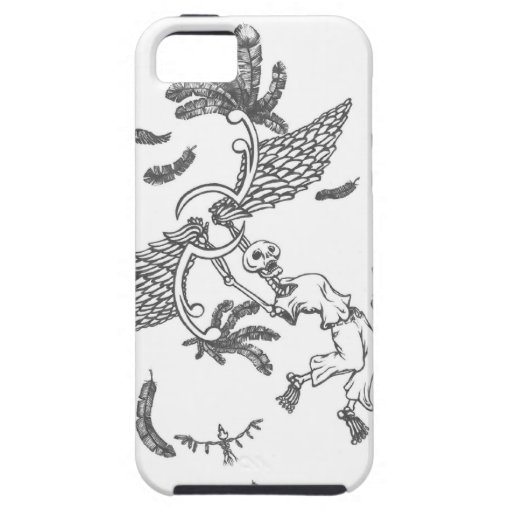 flying skeleton iPhone 5 cases