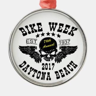 Flying Skull 76Th Daytona Beach Bike Week 2017 Metal Ornament