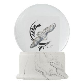 Flying Snowy Owl Snow Globes