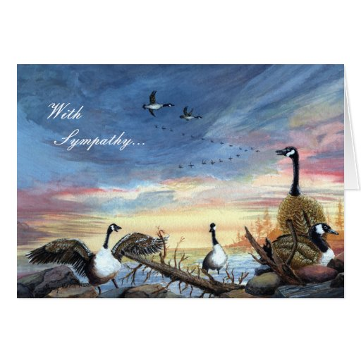 Flying South, With  Sympathy... Card
