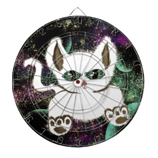 Flying Space Cat Dartboard