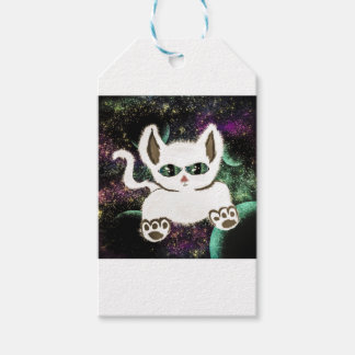 Flying Space Cat Gift Tags