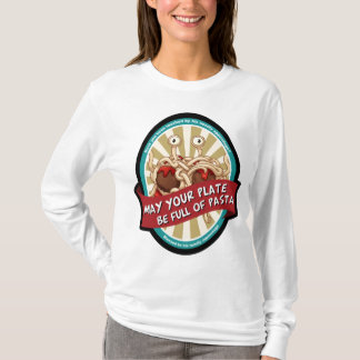 Flying Spaghetti monster church. Pastafarian. T-Shirt