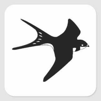 Flying Sparrow Square Sticker