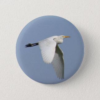 Flying stork 6 cm round badge