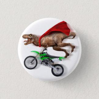 Flying t rex  - t rex motorcycle - t rex ride 3 cm round badge