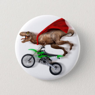 Flying t rex  - t rex motorcycle - t rex ride 6 cm round badge