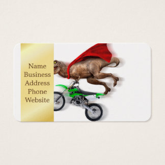 Flying t rex  - t rex motorcycle - t rex ride business card
