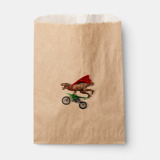 Flying t rex  - t rex motorcycle - t rex ride favour bag