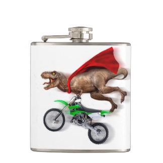 Flying t rex  - t rex motorcycle - t rex ride hip flask