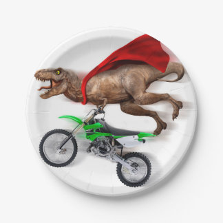Flying t rex  - t rex motorcycle - t rex ride paper plate