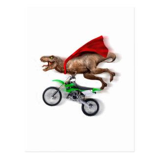 Flying t rex  - t rex motorcycle - t rex ride postcard