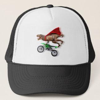 Flying t rex  - t rex motorcycle - t rex ride trucker hat