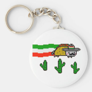 Flying Taco Cat Key Chains
