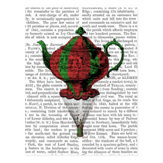 Flying Teapot 2 Red and Green Postcard