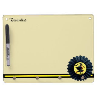 Flying Through the Moonlight Dry Erase Board With Key Ring Holder