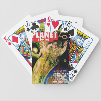 Flying Throught the Galaxy Bicycle Playing Cards