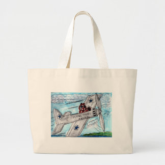 Flying Tigers Airlines Large Tote Bag