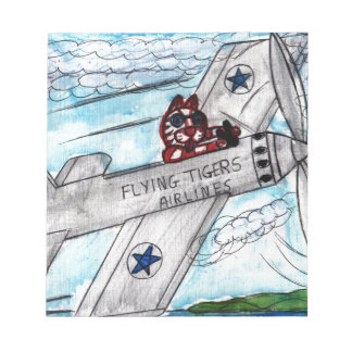 Flying Tigers Airlines Notepad