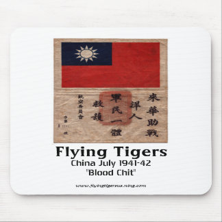 Flying Tigers Mouse Pad  -  Blood Chit