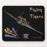 Flying Tigers P-40B Warhawk Mousepad
