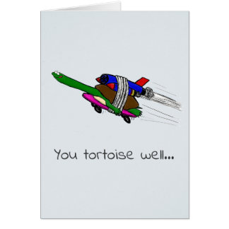 flying tortoise funny card. card