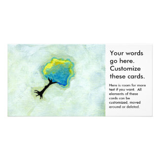 Flying tree floating fun minimalist modern art picture card