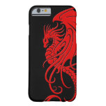 Flying Tribal Dragon - Red on black Barely There iPhone 6 Case
