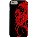Flying Tribal Dragon - Red on black Barely There iPhone 6 Plus Case