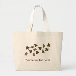 Flying Turkeys Canvas Bag