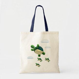 Flying turtle tote bag