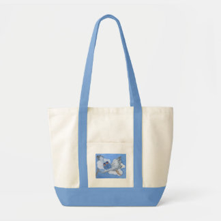 Flying Twin Babies and Stork Bag