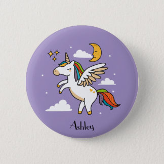 Flying Unicorn 6 Cm Round Badge