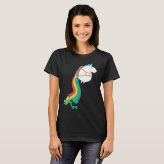 Flying Unicorn With A Rainbow Jet Pack T-Shirt