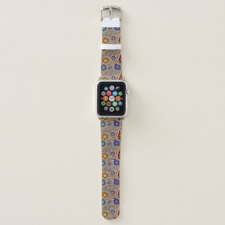 Flying Up, Colorful, Modern, Abstract Fractal Art Apple Watch Band