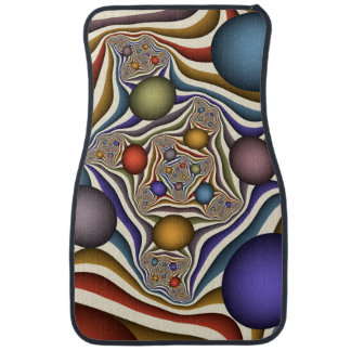Flying Up, Colorful, Modern, Abstract Fractal Art Floor Mat