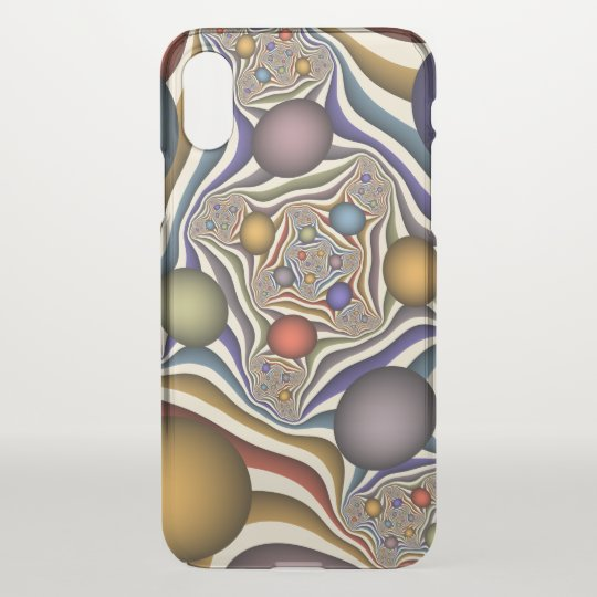 Flying Up, Colourful, Modern, Abstract Fractal Art iPhone X Case