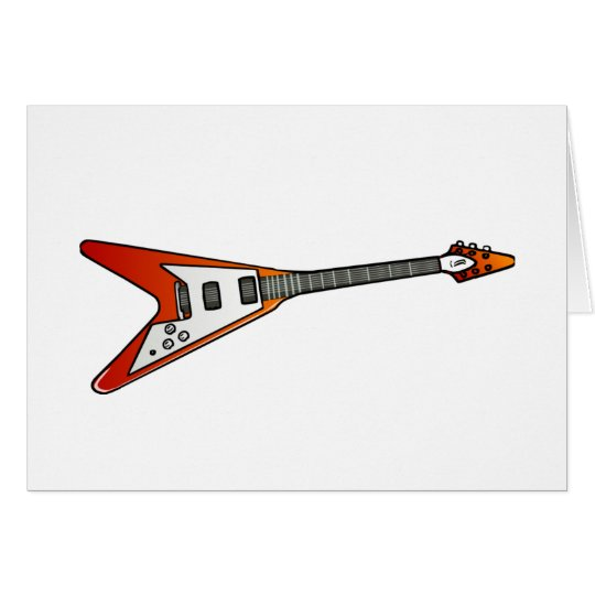Flying V Guitar Card