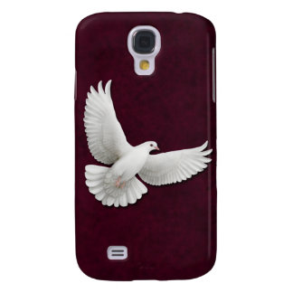 Flying White Dove on Maroon HTC Vivid Tough Case Samsung Galaxy S4 Case