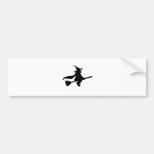 """""""Flying Witch"""" Bumper Stickers"""