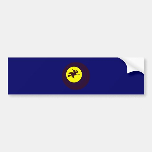 flying witch flying witch bumper sticker