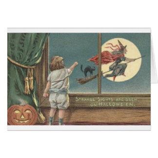 Flying Witch thru Window Card